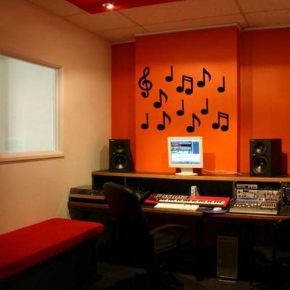 Decoração de ambientes com estilo musical 012