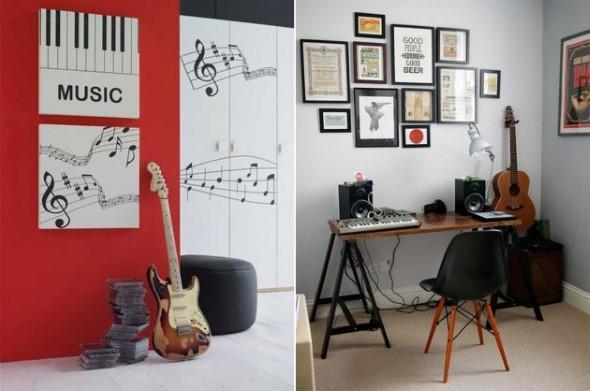 Decoração de ambientes com estilo musical 017