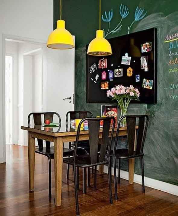 Luminárias e pendentes coloridos na decoração 004
