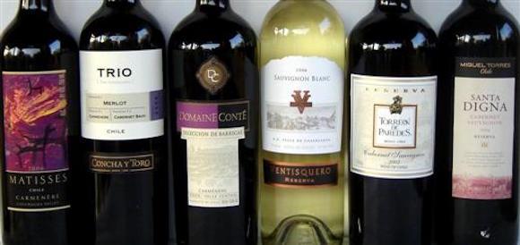 vinho chileno de 30 a 50